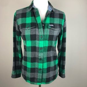 Penfield Trailwear Green Check Plaid Flannel Shirt